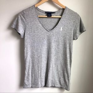 Ralph Lauren grey v neck tee